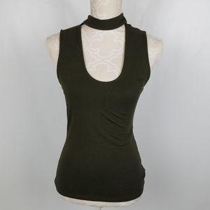 Express brand sleeveless high neck top